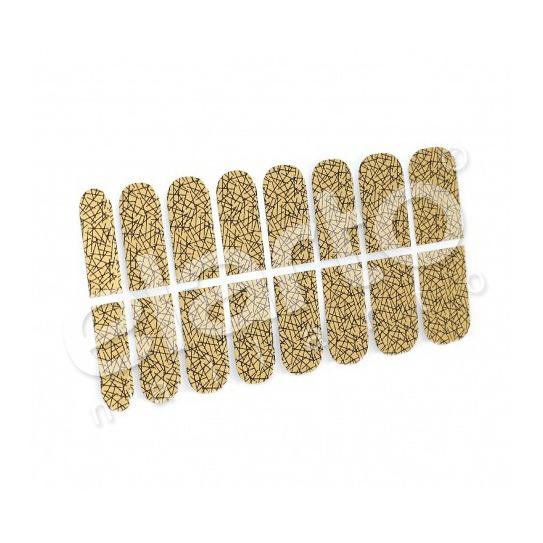 Metaliczna naklejka Minx - kreseczki (38)