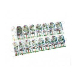 Metaliczna naklejka Minx - kolorowe prostokąty (04)