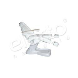 Elektryczny fotel kosmetyczny / pedicure z drewnianymi podłokietnikami LUX biały