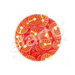Plasterki pomarańczy z masy fimo różnokolorowe