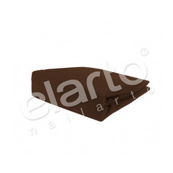 Pokrowiec welurowy na fotel / łóżko kosmetyczne 70x210x10cm, brązowy