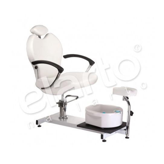 Hydrauliczny fotel do pedicure z brodzikiem biały