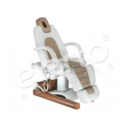 Elektryczny fotel kosmetyczny biało-beżowy